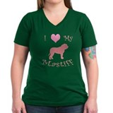 pink heart mastiff Shirt