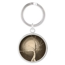 wintery tree Round Keychain