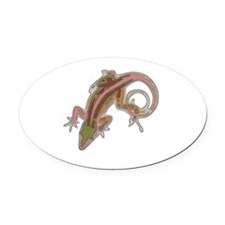 lizard Oval Car Magnet