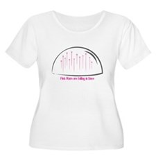 Pink Stars are falling in Lines Plus Size T-Shirt