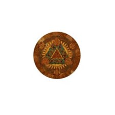 Celtic Pyramid Mandala Mini Button