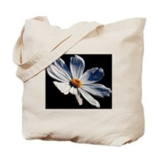 Daisy on Black Tote Bag