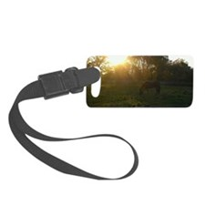 Mare at Sunset Luggage Tag