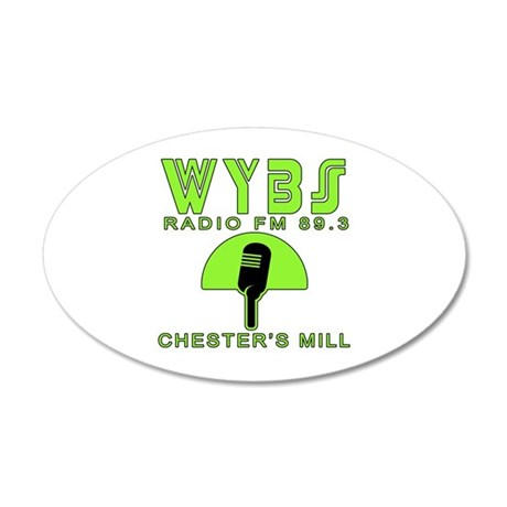 WYBS FM Under the Dome 35x21 Oval Wall Decal