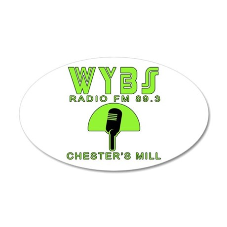 WYBS FM Under the Dome 20x12 Oval Wall Decal