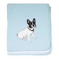 French Bulldog (Wht-blck) baby blanket