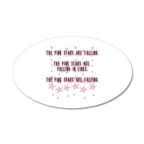 The Pink Stars are Falling 35x21 Oval Wall Decal