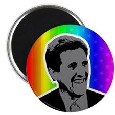 John Kerry rainbow flag. Magnet