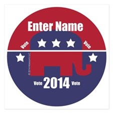Customizable With Your Candidates Name Invitations