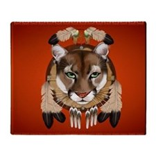 -King Duvet Cougar Shield Throw Blanket