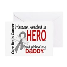 Brain Cancer Heaven Needed Hero 1.1 Greeting Card