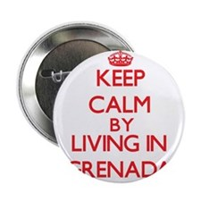 "Keep Calm by living in Grenada 2.25"" Button"