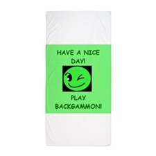 Backgammon Beach Towel
