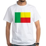 Benin Flag White T-Shirt