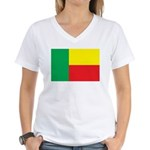 Benin Flag Women's V-Neck T-Shirt