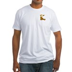 Blown Gold K (pkt) Fitted T-shirt