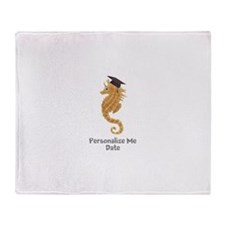 Graduation Seahorse Throw Blanket