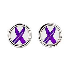 Fibro Awareness Ribbon Cufflinks