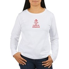 Keep Calm by living in Zimbabwe Long Sleeve T-Shir