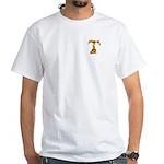 Blown Gold T (pkt) White T-Shirt