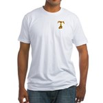 Blown Gold T (pkt) Fitted T-shirt