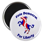 Vote Democrat Liberty Magnet (100 pack)