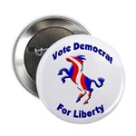 Vote Democrat for Liberty Button (10 pack)