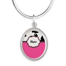 Cow Print Pink Personalized Necklaces