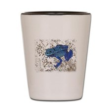 Blue Frog Shot Glass