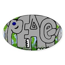 Peace Elephant Rectangle Decal