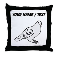 Custom Pigeon Throw Pillow
