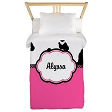 Cow Print Pink Personalized Twin Duvet