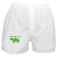 Custom Green Turtle Boxer Shorts