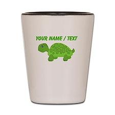 Custom Green Turtle Shot Glass