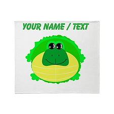 Custom Fat Turtle Throw Blanket