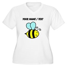Custom Cartoon Bee Plus Size T-Shirt