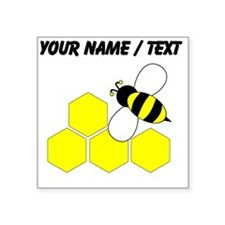 Custom Honeycomb Bee Sticker