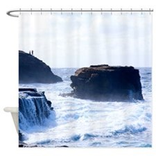 Fishermen Hawaii Tropical Shower Curtain