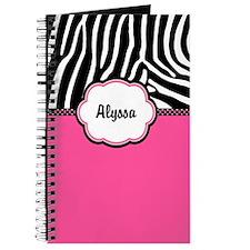 Zebra Print Personalized Journal