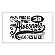 38th Birthday Decal
