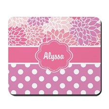 Pink Purple Blooms Personalized Mousepad