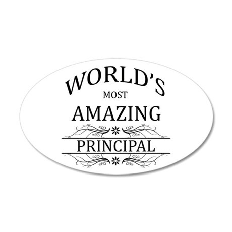 World's Most Amazing Princip 20x12 Oval Wall Decal