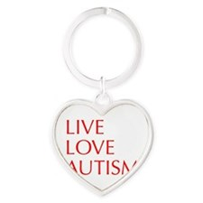 LIVE-LOVE-AUTISM-opt-red Keychains