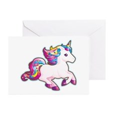Kawaii Magical Candy Unicorn Greeting Cards