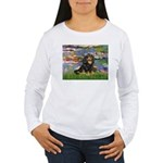 Lilies (2) & Cavalier (BT) Women's Long Sleeve T-S