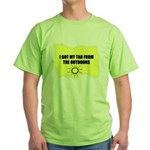 I GOT MY TAN FROM THE OUTDOORS Green T-Shirt