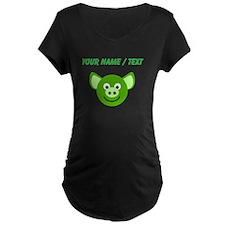 Custom Happy Green Pig Maternity T-Shirt