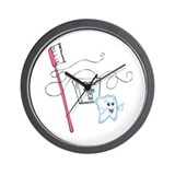 Healthy Teeth Brush and Floss Wall Clock