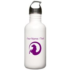 Custom Purple Horse Design Sports Water Bottle