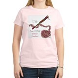 Women's Pink Happy Hooker Crochet T Shirt